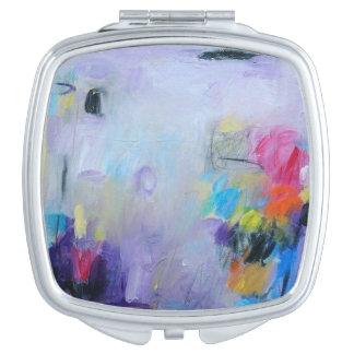 Impresión abstracta de la acuarela en eje del espejo de viaje
