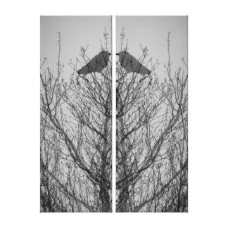 Impresión abstracta del pájaro del cuervo del