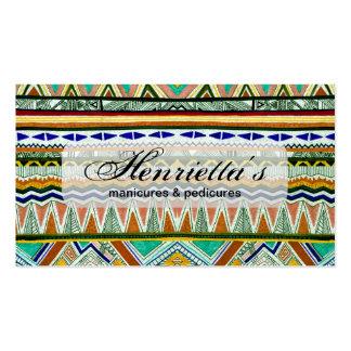 Impresión abstracta fina tribal azteca de la tarjetas de visita
