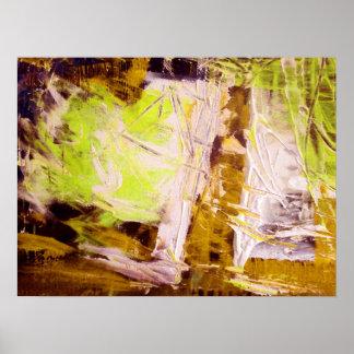 Impresión abstracta moderna del poster del