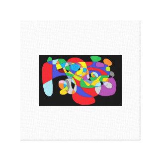 Impresión abstracta PJ sin título Hubinsky @013 Lona Envuelta Para Galerías