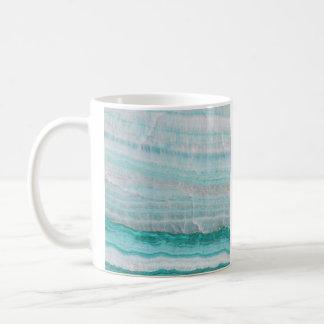 Impresión acodada piedra de la onda del granito de taza básica blanca