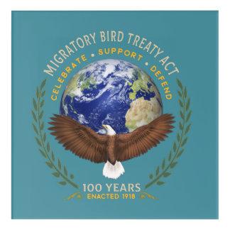 Impresión Acrílica 1918 acto del tratado de la ave migratoria - 100
