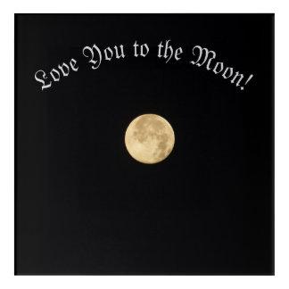 Impresión Acrílica Ámele a la luna