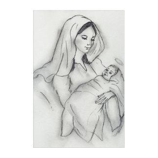 Impresión Acrílica Amor de madres