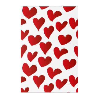 Impresión Acrílica Amor rojo pintado modelo del corazón del ejemplo