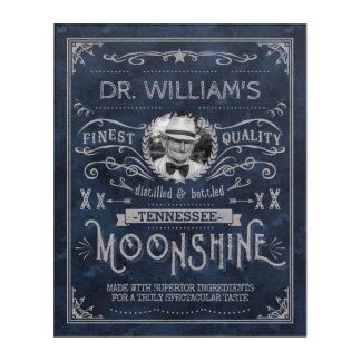 Impresión Acrílica Azul de encargo del vintage de la medicina del