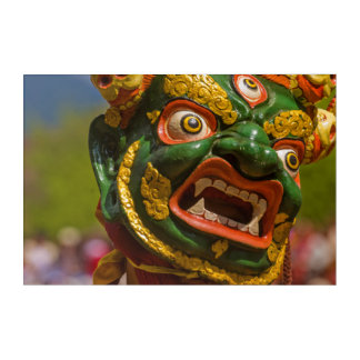 Impresión Acrílica Bailarín enmascarado asiático