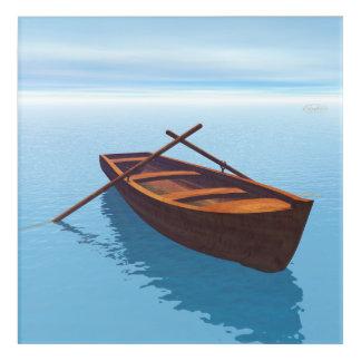 Impresión Acrílica Barco de madera - 3D rinden