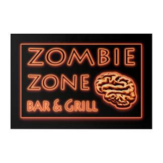 Impresión Acrílica Barra de la zona del zombi y señal de neón de la
