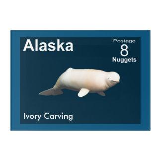 Impresión Acrílica Beluga de marfil - franqueo de Alaska