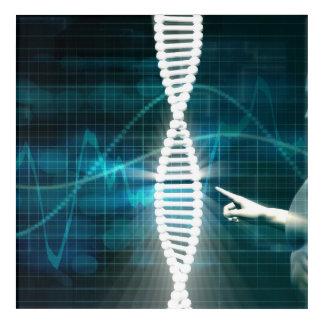 Impresión Acrílica Biotecnología como fondo del extracto de la