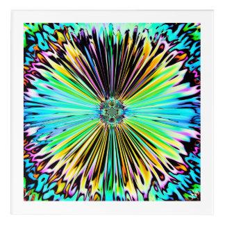 Impresión Acrílica Bosquejo psicodélico colorido de una flor 2