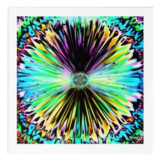 Impresión Acrílica Bosquejo psicodélico colorido de una flor 3