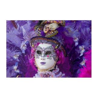 Impresión Acrílica Cara de un traje del carnaval, Venecia