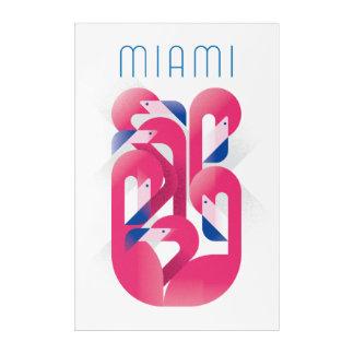 Impresión Acrílica Color del flamenco de Miami