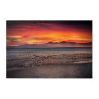 Impresión Acrílica Colores de la playa