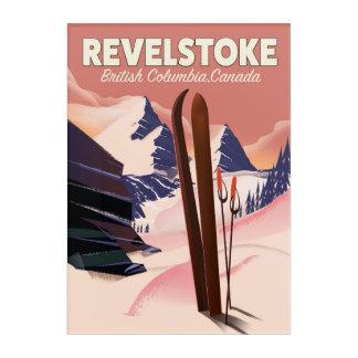 Impresión Acrílica Columbia Británica de Revelstoke, poster del esquí