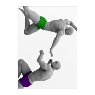 Impresión Acrílica Concepto de los artes marciales para luchar y la
