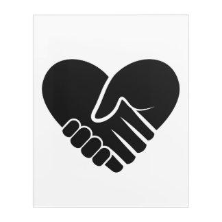 Impresión Acrílica Corazón negro conectado amor