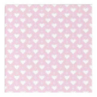Impresión Acrílica Corazones en colores pastel de la tarjeta del día