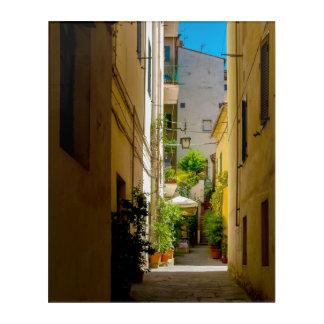 Impresión Acrílica Cortona, Toscana, Italia - pasillo ocultado