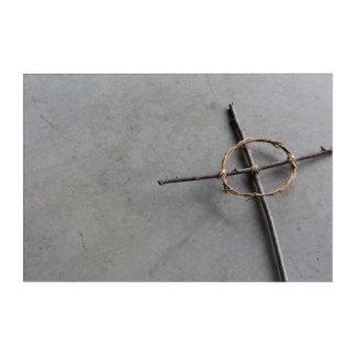 Impresión Acrílica Cruz céltica construida mano