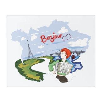 Impresión Acrílica Dibujo de Bonjour París