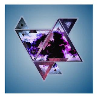 Impresión Acrílica Dimensión triangular del espacio