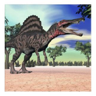 Impresión Acrílica Dinosaurio de Spinosaurus en el desierto - 3D