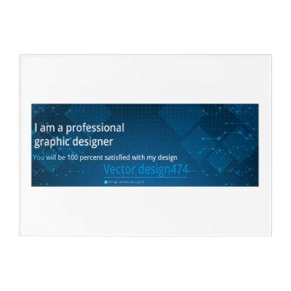 Impresión Acrílica Diseño del vector