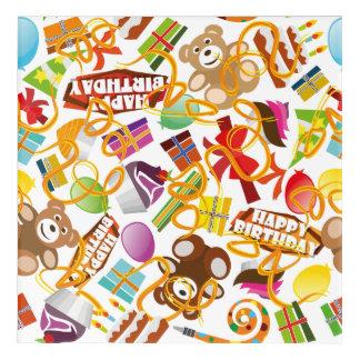 Impresión Acrílica Ejemplo del modelo del feliz cumpleaños