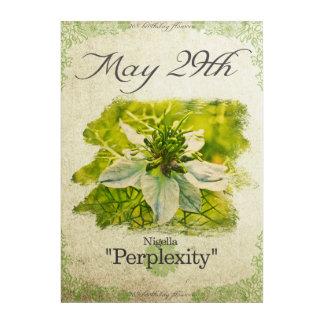 """Impresión Acrílica El cumpleaños florece el 29 de mayo """"Nigella """""""