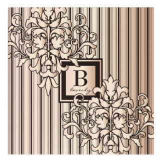 Impresión Acrílica El damasco del cuarzo color de rosa raya neutral