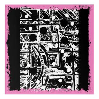 Impresión Acrílica El panel a artesonar en lona