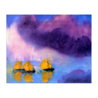 Impresión Acrílica Emil Nolde - mar con las nubes y los veleros