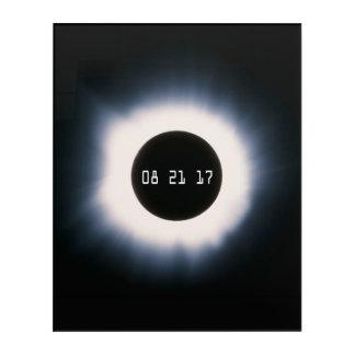 Impresión Acrílica En agosto de 2017 eclipse solar total en blanco y