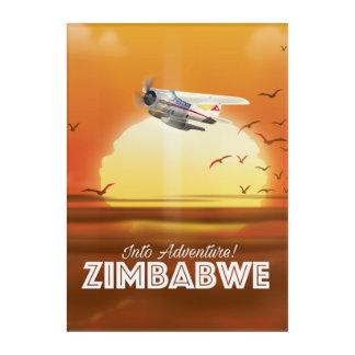 Impresión Acrílica ¡En aventura! Poster del viaje de Zimbabwe