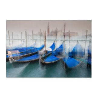 Impresión Acrílica Extracto de góndolas, Venecia