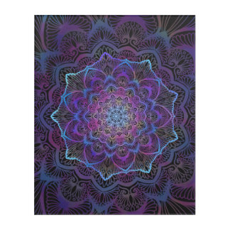 Impresión Acrílica Flor de Chakra, boho, nueva edad, espiritual