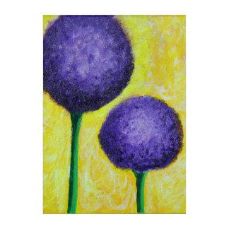 Impresión Acrílica flor de la púrpura del allium