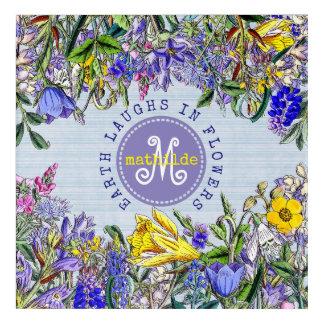 Impresión Acrílica Flores del Victorian del vintage de los