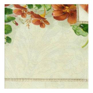 Impresión Acrílica Frontera floral del vintage