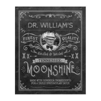 Impresión Acrílica Gris de encargo del vintage de la medicina del
