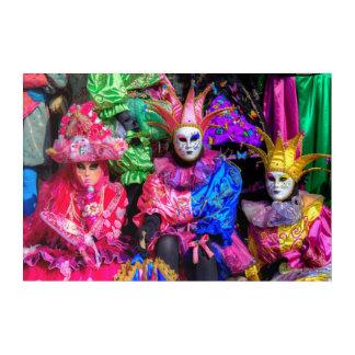 Impresión Acrílica Grupo en el traje del carnaval, Venecia