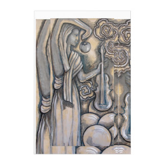 """Impresión Acrílica """"Handmaiden de Zeus con el violín"""" que pinta"""