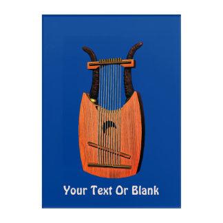 Impresión Acrílica Harp de rey David