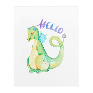 Impresión Acrílica Hola dinosaurio