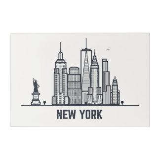 Impresión Acrílica Horizonte de New York City