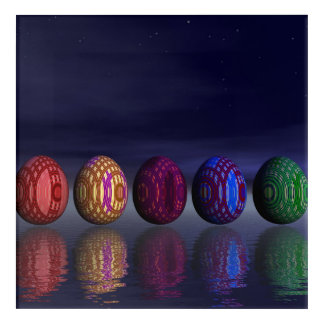 Impresión Acrílica Huevos coloridos para pascua - 3D rinden